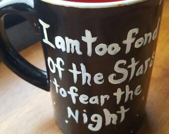 Large night stars coffee mug