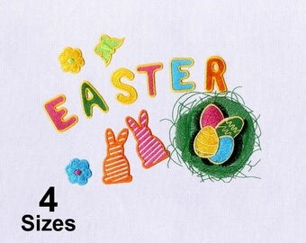 Colorful Decorations for Easter Embroidery Design