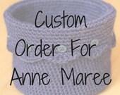 Custom Order for Anne Maree - Cream Crochet Basket