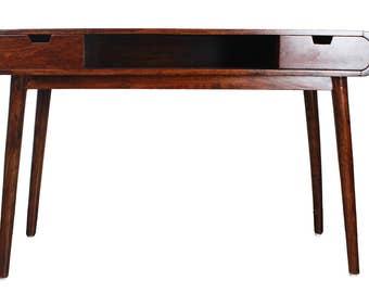 ARTISTREE Carter Mid Century Modern Writing Desk (Brown) …