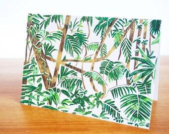 "Rainforest Greetings Card 7x5"""
