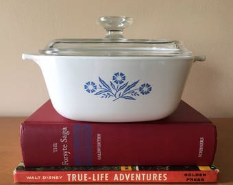 Corning Ware Blue Cornflower P 1 1/2B - 1 1/2qt. Saucepan with Replacement Lid A7C