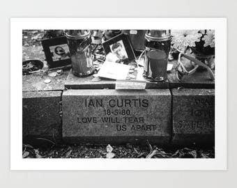 Love Will Tear Us Apart - Print. Joy Division, New Order, Ian curtis, Photograph, Music art, Black and White photo, Joy Division Shirt