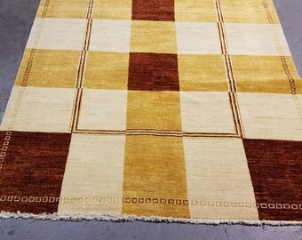 5' X 7' Contemporary Handmade Rug