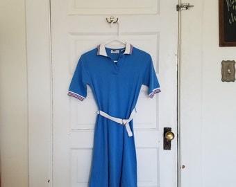 vintage sporty / preppy polo dress