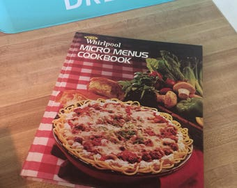Whirlpool micro menus cookbook microwave book 1970s