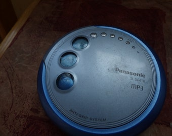 vintage  Panasonic SL-SX418 MP3 Portable CD Player  cd-r-rw/mp3