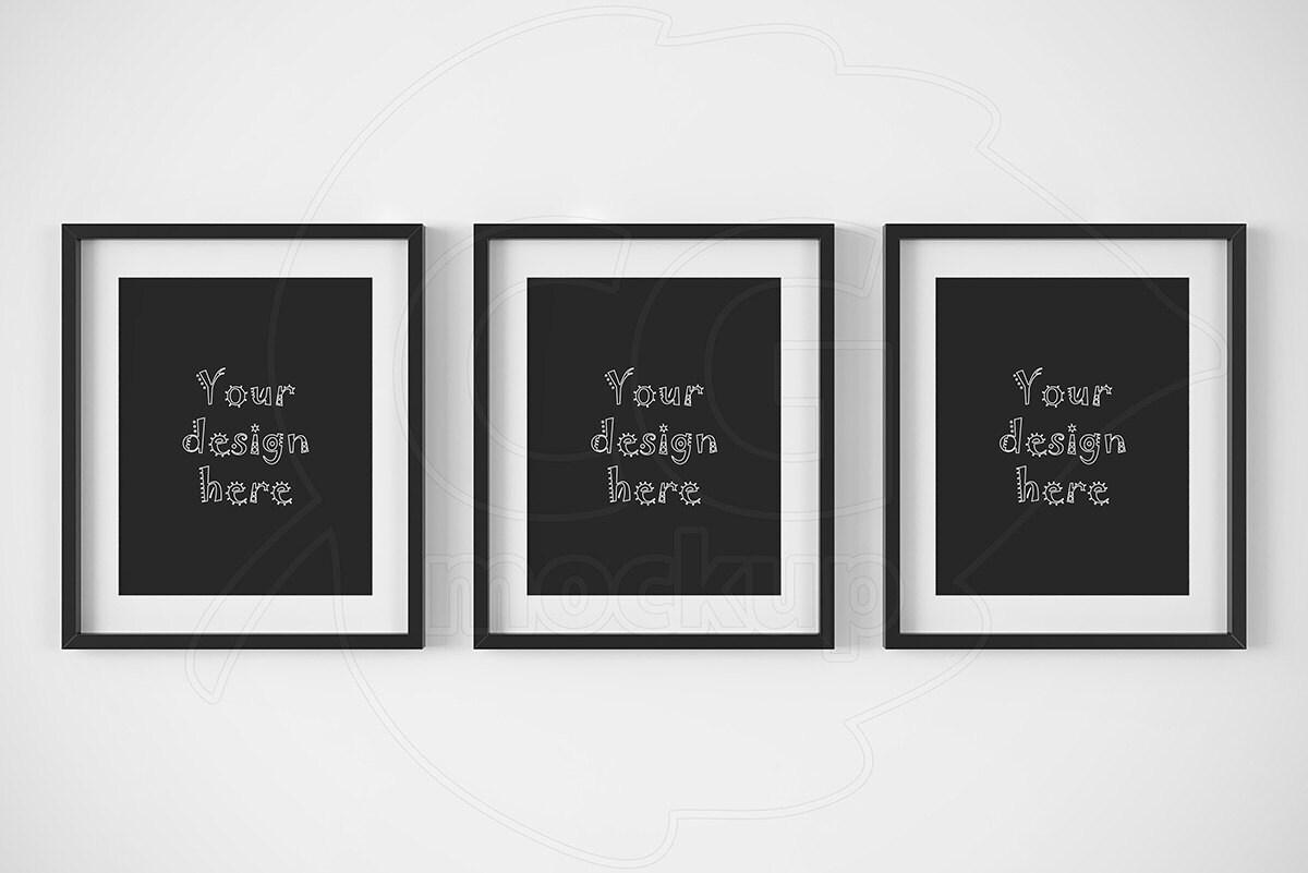 Artprint Mock Ups Printable Downloads Set Of 3 Frame 8x10