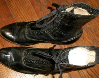 Larger Size Victorian Laceup Boots