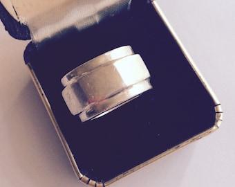 Sterling silver ring nut for bolt vintage size 5 1/2 # 333