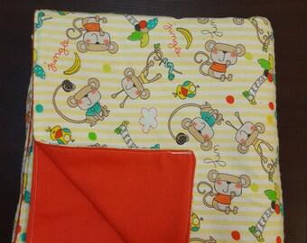 Jungle Monkey Premade Baby Blanket