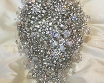 Crystal Bridal Brooch Bouquet - Stunning