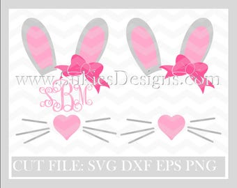 Easter Monogram SVG, DXF, PNG Files for Cricut and Silhouette cutting Easter svg files, Easter bunny svg,  easter monogram svg