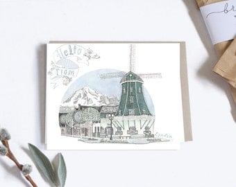 Postcard, City Illustration, Lynden Washington
