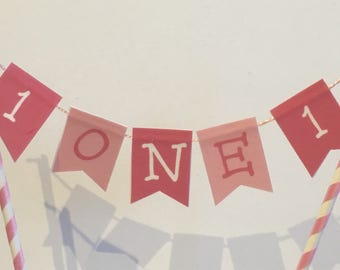 Age/Number Birthday Cake bunting, Cake topper, colour of choice