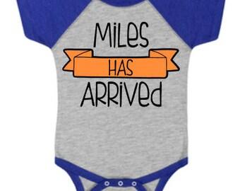 Baby Has Arrived Raglan Onesie, Baby Shower Gift, Raglan Onesie, Baseball Tee Onesie