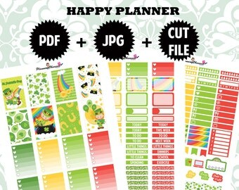 SALE 25% OFF/ St. Patrick's Day Happy Planner Printable Stickers / happy planner printable stickers / printable stickers