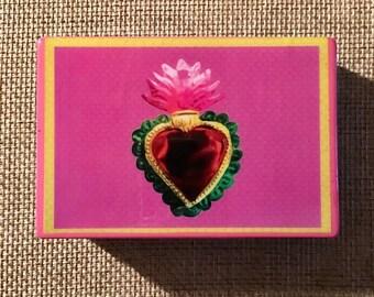 Sagrado corazón jewelry box sacred heart jewelry box
