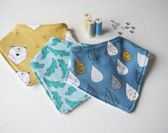 Dribble Bibs - Any Print, Kidswear, Newborn, Handmade, JMW Kids, Toddler, Jersey, Baby Boy, Baby Girl, Unisex, Bandana Bib, Baby Gift