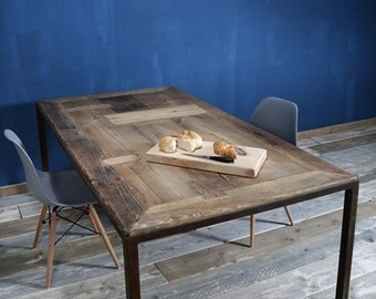 Dining table from timber & iron Maaike 190 x 90 cm
