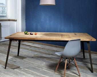 Dining table from lumber Krijn rusted 200x100cm