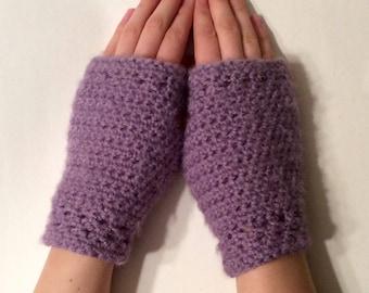 Lavender Fingerless Gloves