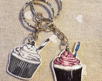 Cupcake Keyring