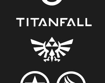 Video Game decals: Overwatch, TitanFall, Zelda, Mass Effect Renegade/Paragon