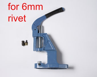 KIT 6mm Single Cap Stud Rivet Setter Tool Machine Hand Press Handpress