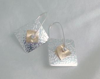Pinwheel Earrings Sterling Silver & 14k gold filled