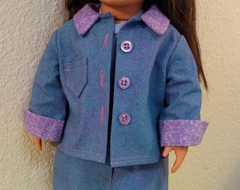 Three-Piece Skirt Suit for 18 inch Dolls like AG, Our Generation, Journey Girls