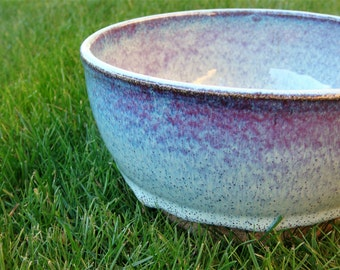Ceramic Bowl Stoneware Bowl Serving Bowl Handmade Pottery Light Blue Gloss Pasta Bowl