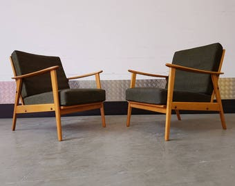 Mid Century Danish Lounge Chair Vintage 1960