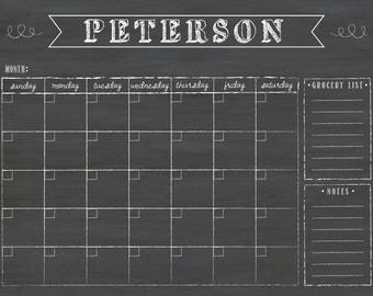 Wall Calendar, 24 x 18, Dry Erase Custom Chalkboard Calendar #18.B1.H