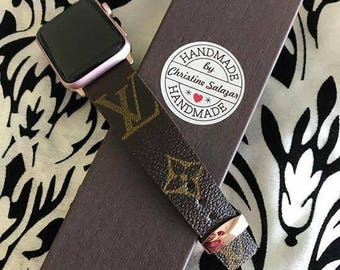 Rosegold Louis Vuitton Apple iWatch Band Monogram
