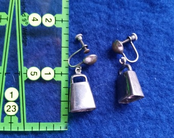 Screw-on Cowbell Earrings