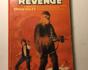 VIntage Star Wars Book -novel by Brian Daley -  Ballantine 28840 - Han Solo's Revenge - from th Skywalker 1979