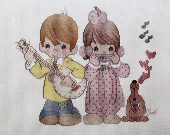 Precious Moments Counted Cross Stitch Kit, Old Time Religion 131-59 NEW, Sealed