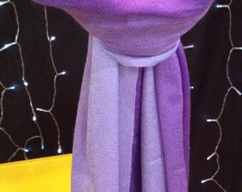 Purple Two Tone Ombre Pashmina Shawl