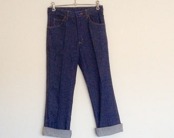 1970 Blue Denim Jeans Vintage