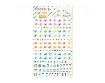 Planner Stickers, Diary Stickers, Journal Stickers, Decorative Stickers, Cute Stickers, (SPS-SS)