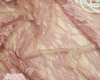 Brown Roses Lace Fabric Brown Lace For Handmade Floral Lace Wedding Roses Brown Lace Bridesmaid Lace Brown Lace For Making Dress