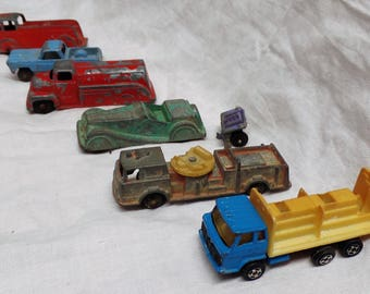 Vintage Lot Of (6) Die-Cast Toy Cars Including Tootsie Toy Brand