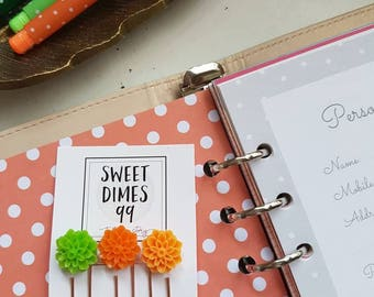 Planner Paperclip Set of 3 - perfect for dressing up your Planner with cabochon flower