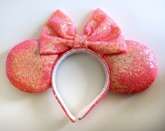 Coral Sequin Ears