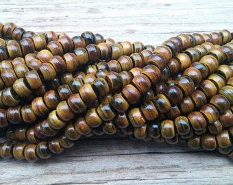 "8mm Burnt Buffalo Horn Beads, 16"" Strand"