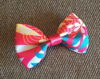 Pink with Blue Tuxedo Hair Clip