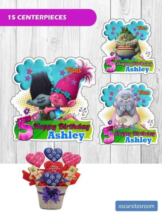 Printable Birthday Table Decorations Trolls