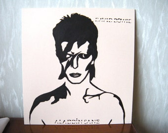 David Bowie / Aladdin Sane portrait stencil