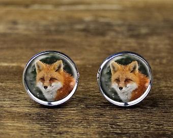 Fox cufflinks, Fox jewelry, Fox accessories
